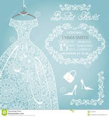 bridal invitation bridal shower wedding invitation stock vector illustration of
