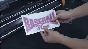 glitter car how to make a glitter baseball mom car window decal gcc expert 24
