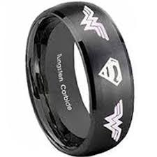 Superman Wedding Ring by Tungsten Carbide Ring Scratch Free Everlasting Quality Best