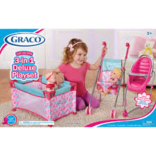 Graco Baby Doll Furniture Sets by Graco Deluxe Playset Walmart Com
