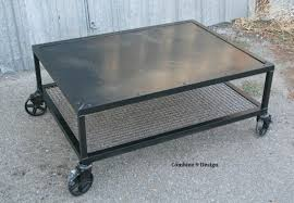buy a hand crafted vintage industrial coffee table steel mid