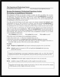 Resume Job Accomplishments Examples by Resume Accomplishments For Resume Examples