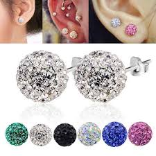 what is surgical steel earrings cz ear stud earring surgical steel 4 size mix color 4mm