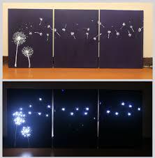 Design Wall Art 3 Ways To Design Three Panel Light Up Dandelion Wall Art