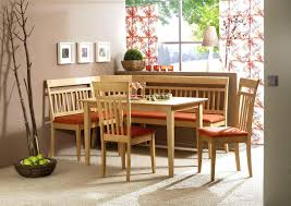 image of stylish corner bench dining table setwooden with storage