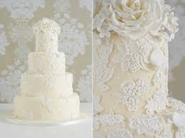 wedding cake lace lace wedding cake applique lace overpiped by peggy porschen 2