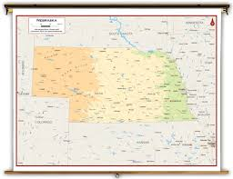 Aurora Colorado Map by Nebraska State Physical Classroom Map From Academia Maps