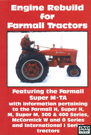 farmall m h 300 400 engine rebuild video dvd case ih parts
