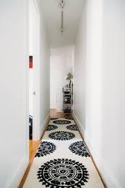 black and white striped rug runner bedroom black white
