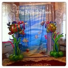 under the sea decoration balloons backdrops murales con globos
