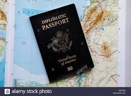Map Of The United States Of America by Diplomatic Passport Of The United States Of America On A Map Of