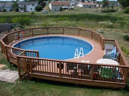 Backyard Designs Photos 40 Uniquely Awesome Above Ground Pools With Decks