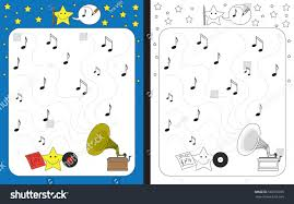preschool worksheet practicing fine motor skills stock vector