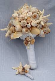 seashell bouquet starfish and seashell bouquet