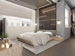 bedroom nice yellow fubric modern bedding concrete wall designs