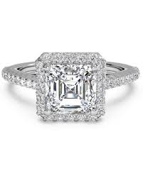diamond ring cuts asscher cut diamond engagement rings martha stewart weddings