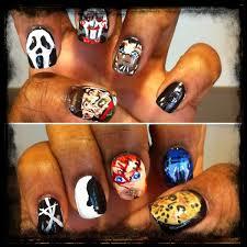 halloween horror movie nail art freddy krueger jason voorhees