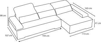 dimensions canapé design d intérieur canape dimension angle impressionnant beautiful