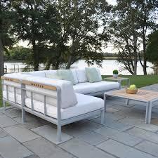 kingsley bate coffee table kingsley bate naples aluminum side table