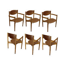 set of 6 vintage jens risom stacking chairs u2013 main street mercantile