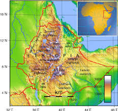 africa map great rift valley topographic map of the highlands and major lowlands