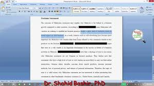 how to write a good problem statement by dr shahid bashir phd