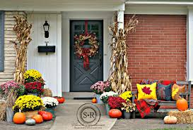 Home Decor With Plants by Fall Porch Decorating Fall Porch Decor With Plants And Pumpkins