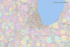 chicago map printable chicago zip code map map of usa states