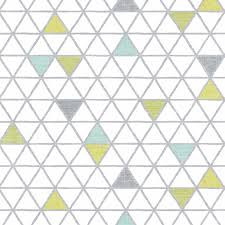 lime green grey u0026 whitetriangles patterned roller blinds