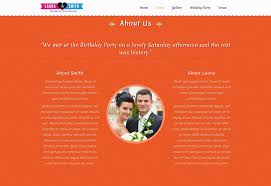 One Page Wedding Program 60 Best Single Page Website Templates Web U0026 Graphic Design