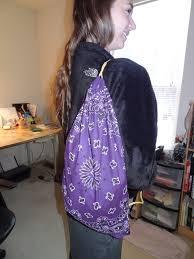 make a bandana backpack knapsack it u0027s inexpensive colorful and