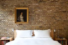 bedroom appealing interior wall decor with faux brick panels