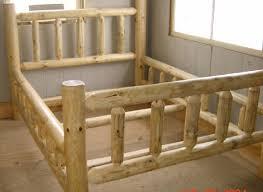 Wood Log Bed Frame Custom Log Furniture