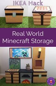 making real world minecraft from ikea storage boxes storage
