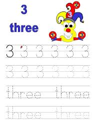 number 3 tracing worksheets for preschool kindergarten funnycrafts