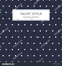 navy blue wrapping paper navy blue polka dot pattern yacht stock vector 694100008
