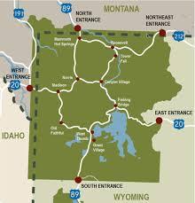 Idaho On Map Where Is Yellowstone National Park My Yellowstone Park