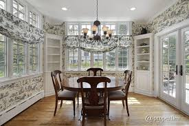 Traditional Dining Room With Chandelier  French Doors In Winnetka - Dining room with french doors