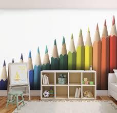 papier peint chambre gar n spécialiste français papier peint chambre enfant crayons de couleur