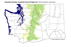 World Mountain Ranges Map by Distribution Map Cascade Golden Mantled Ground Squirrel