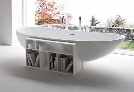 Bathtub Books Free Standing Modern Bathtub With Book Storage