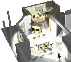 cuisine ouverte sur sejour salon plan cuisine ouverte sur séjour rayonnage cantilever