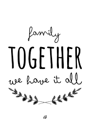 printable quotes about family of printable and chart