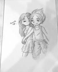 a cute couple sketches drawing art ideas