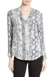 snake print blouse joie joie dane snake print button front blouse casual