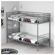 svärta bunk bed frame silver colour 90x200 cm ikea