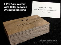 Recycle Paper Business Cards Wooden Business Cards Printed Wood That Looks Natural And Unique