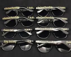 personalized sunglasses wedding favors custom sunglasses etsy