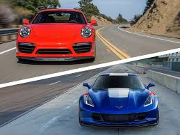 porsche 911 vs corvette 2017 chevrolet corvette vs 2017 porsche 911 which is best