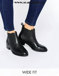 womens wide ankle boots canada black shoes asos about wide fit leather chelsea